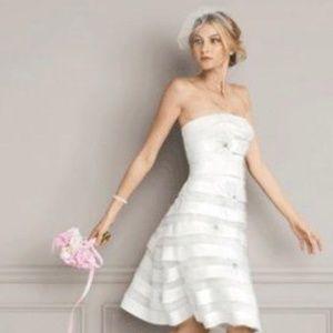 Galina Davids Bridal Strapless Short Wedding Dress